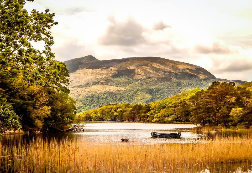 湖, 風景, ナチュール, 自然, 水, 公園, カラフルです, 秋, アイルランド