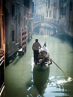 Gondola, Venice, Italy, Canal, Romantic