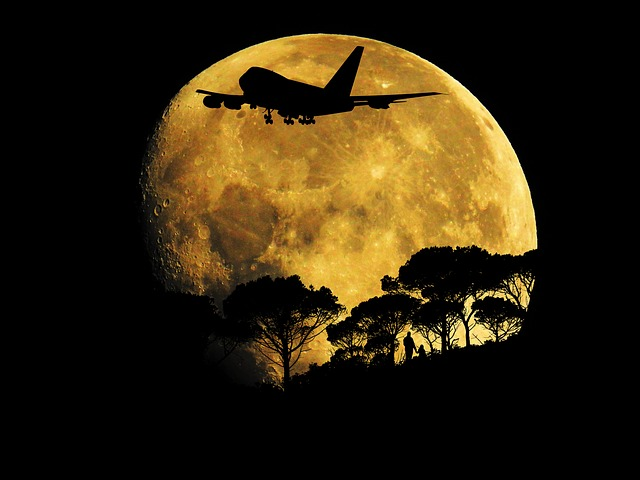 Full Moon Night Aircraft Jumbo 183 Free Image On Pixabay