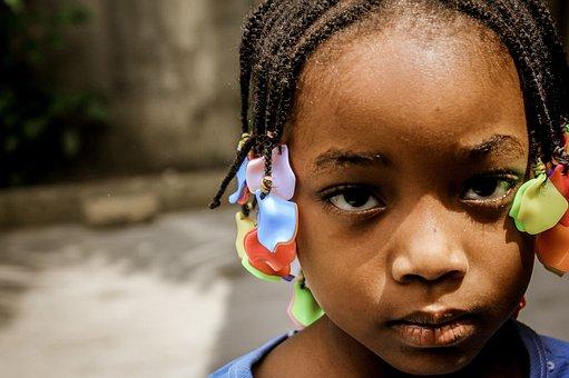 Child, Black, Black White, Face, Picture