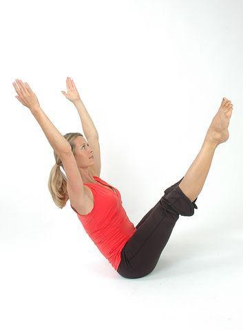 A woman doing exercise