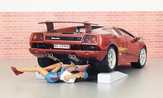 Model Car, Auto, Lamborghini, Mechanic