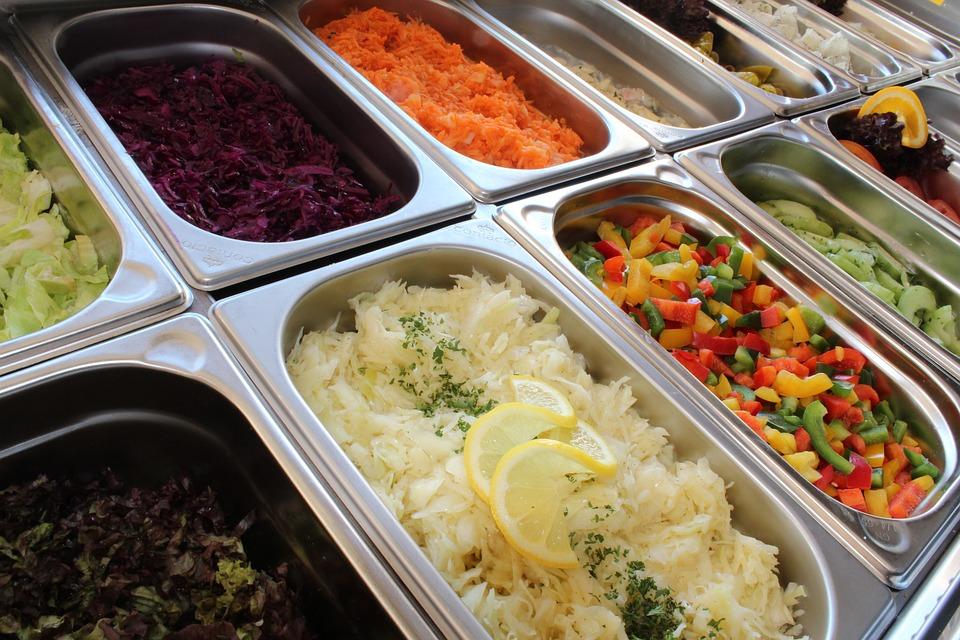 Salad Bar, Salad Buffet, Salad, Buffet, Starter