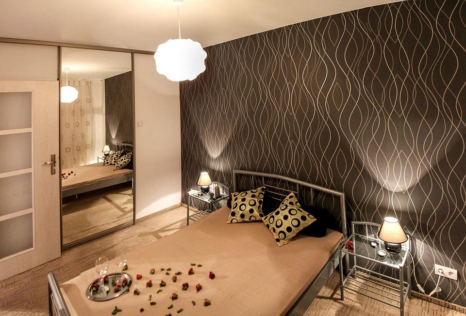 Апартамент, Спалня, Легло, Стая, Начало