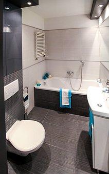 Bathroom, Wc, Bath, Mirror, Apartment