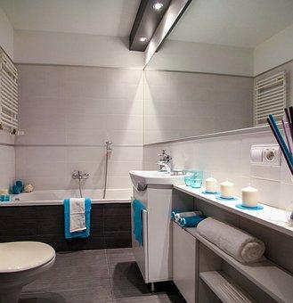 Bathroom, Wc, Bath, Sink, Mirror