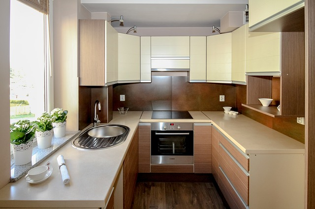Free photo Kitchen, Kitchenette, Apartment  Free Image   -> Kuchnia Na Poddaszu Na Wymiar