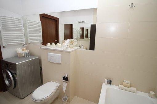 バスルーム, 風呂, Wc, トイレ, シンク, ミラー, アパート, ルーム