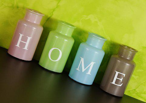 home at home vases colorful glass - Home Decor Photos Free