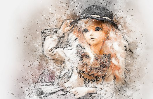 Doll, Art, Abstract, Vintage, Girl