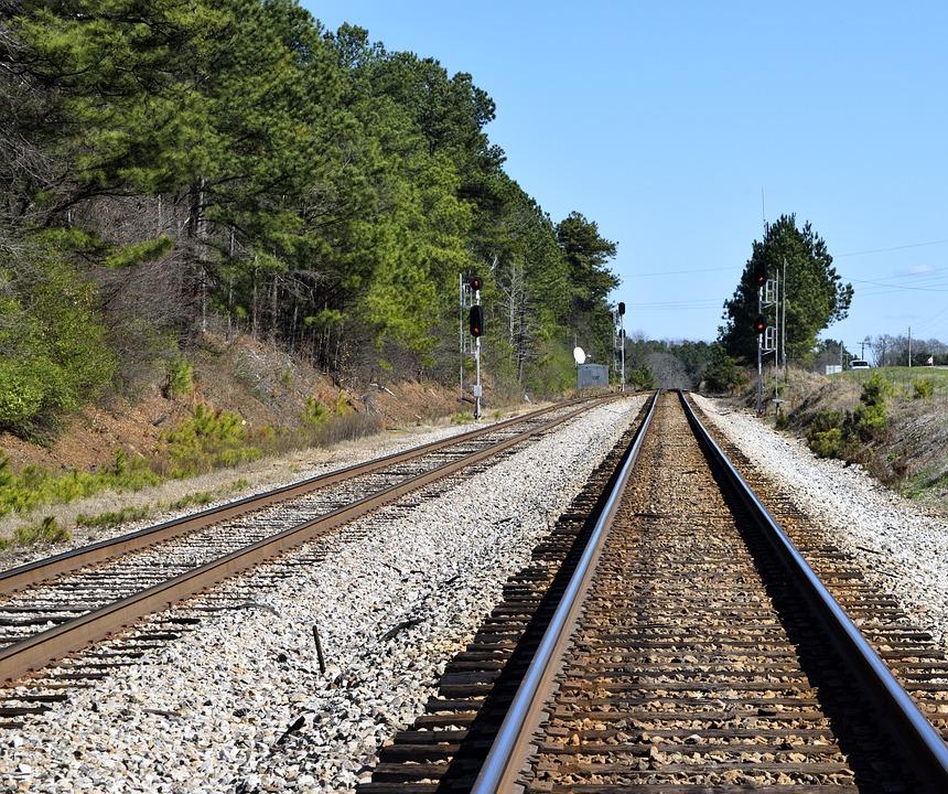 railroad tracks transportation free photo on pixabay