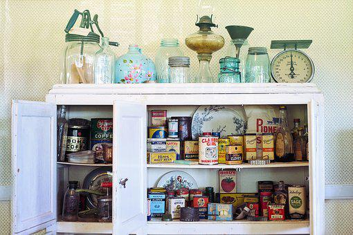 Retro, Vintage, Kitchen, Cupboard