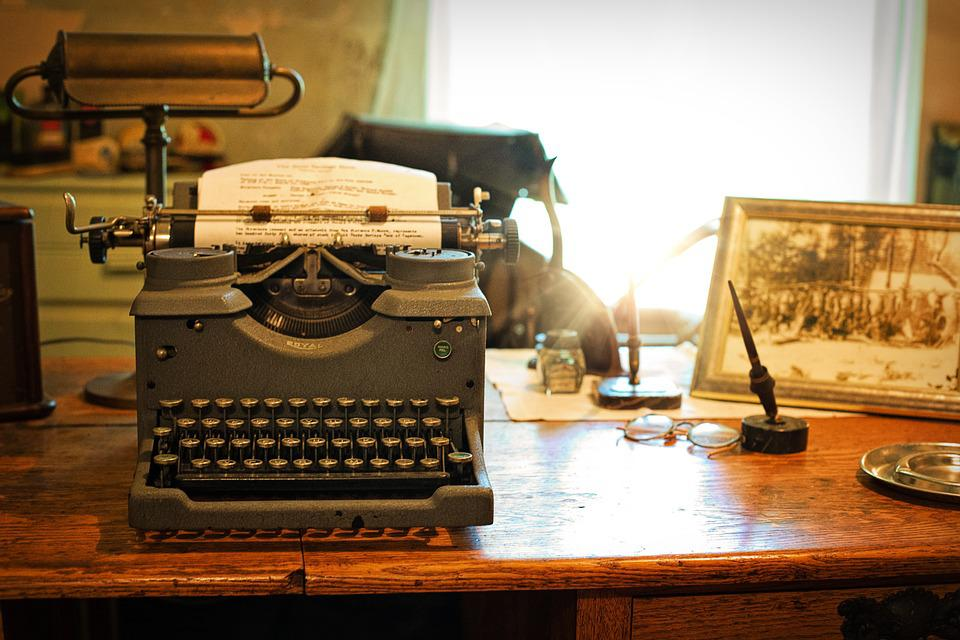 Free photo typewriter desk vintage retro free image - Retro office desk ...