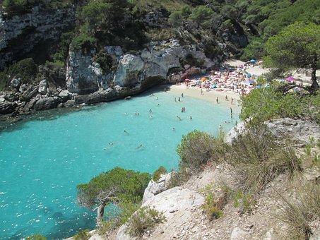Beach, Cala, Mare, Costa, Acqua Blu