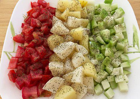 Food, Healthy, Meal, Tomatoes, Potatoes