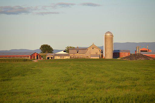 Barn, Farm, Field, Agriculture, Farming