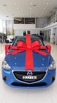 Gift, Bow, Car, Ribbon, Present
