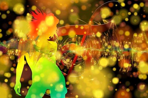Bokeh, Dance, Disco, Movement, Music