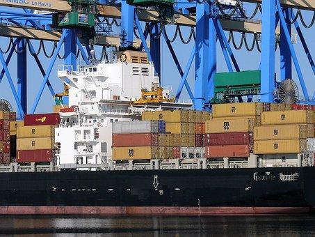 Puerto, Comercio, Grúa, Marítimo, Metal