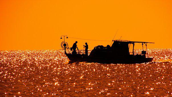 Fishing Boat, Afternoon, Sunset, Fishing