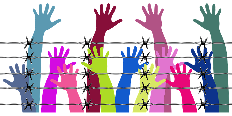 Human, Rights, Hands, Arms, Fingers, Barbed Wire
