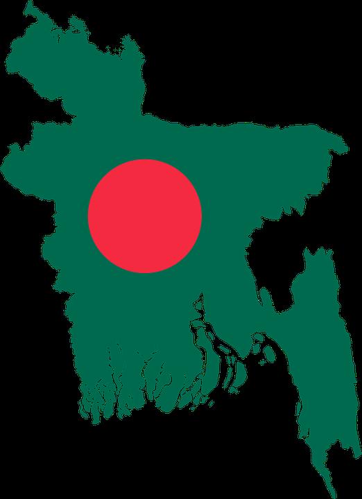 罫線, 国, フラグ, 地理学, 地図, アジア, 概要, バングラデシュ, Svg