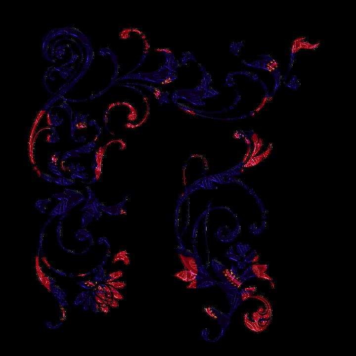 scroll border swirls abstract navy free image on pixabay