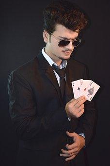 Model, Playing Cards, Gamble, Fashion