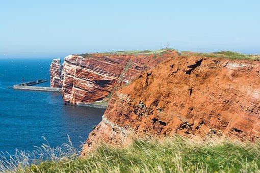 Helgoland, Insel, Nordsee, Felsen