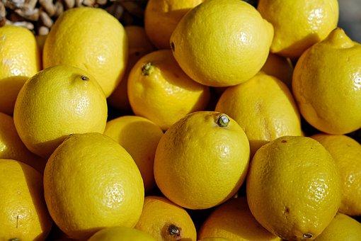 Lemons, Yellow, Fruit, Tart, Refreshment
