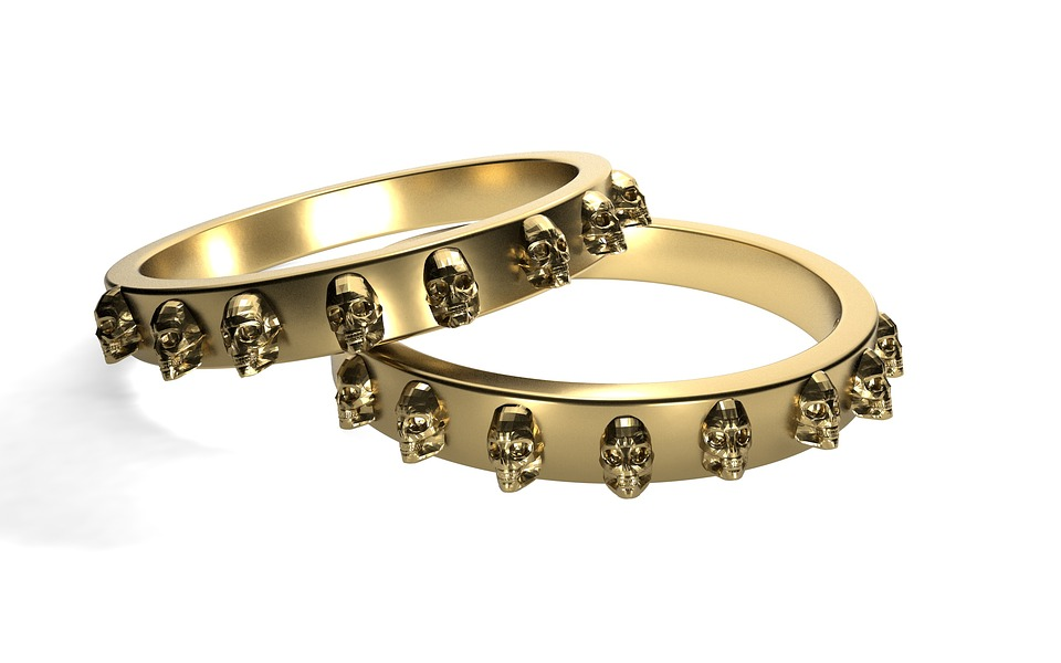 Free photo: Rings, Gold, Skull And Crossbones - Free Image on ...