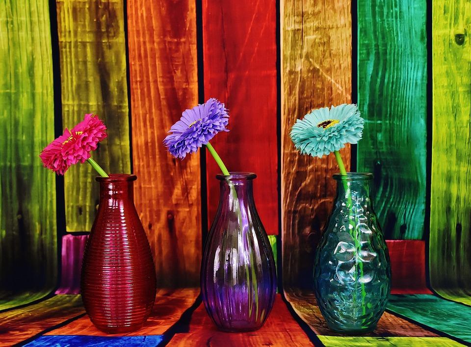 Vaze Colorat Flori De Fotografie Gratuită Pe Pixabay