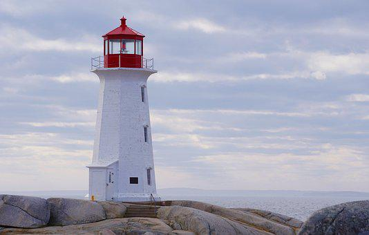 Lighthouse, Nova Scotia, Canada, Ocean