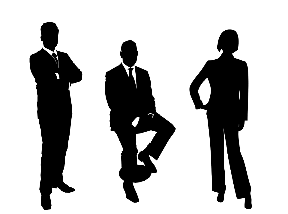 Free vector graphic: Businessmen, Group, Silhouette - Free ...