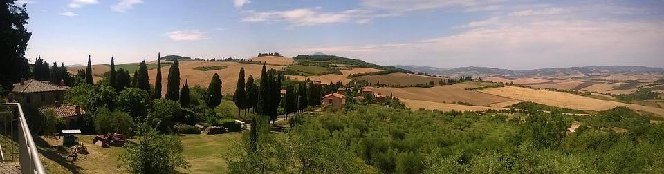 Tuscany, Toscana, Paesaggio, Italia, Colline
