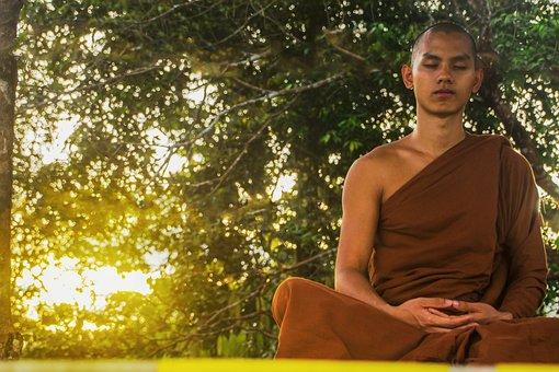 명상, 소승 불교, 스님, 명상 스님, 불교, 종교적인, 전통적인, 종교