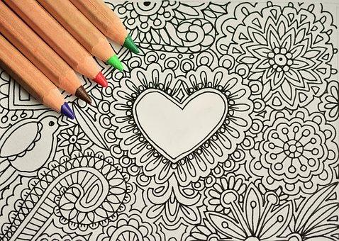 Desenhe, pinte, escreva, desenhe meditativo