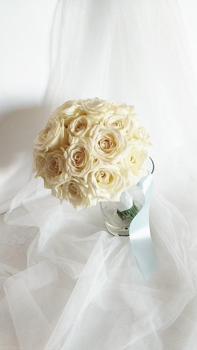 abbastanza Foto gratis: Bouquet Da Sposa, Rose, Matrimonio - Immagine gratis  CC92