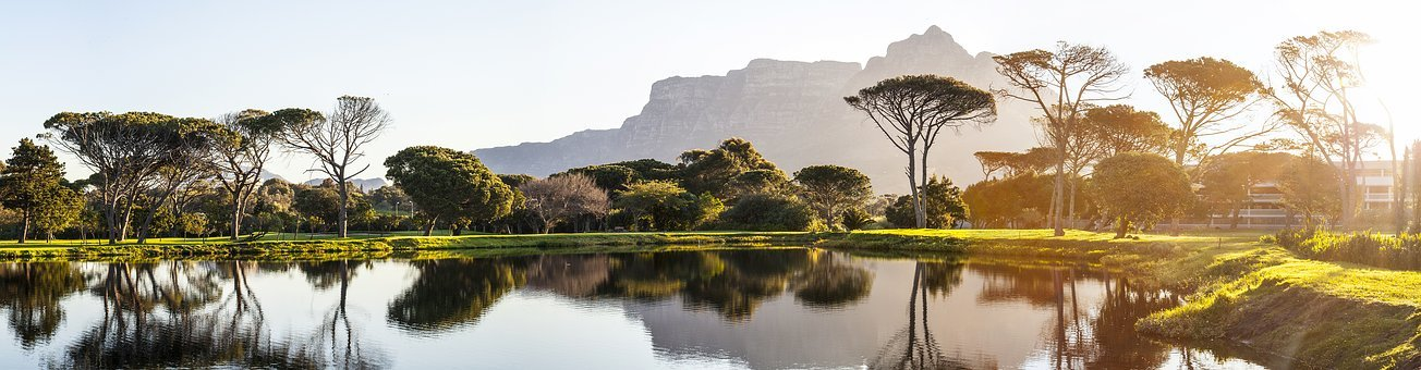 Panorama, Cape Town, Golf Course, Pond