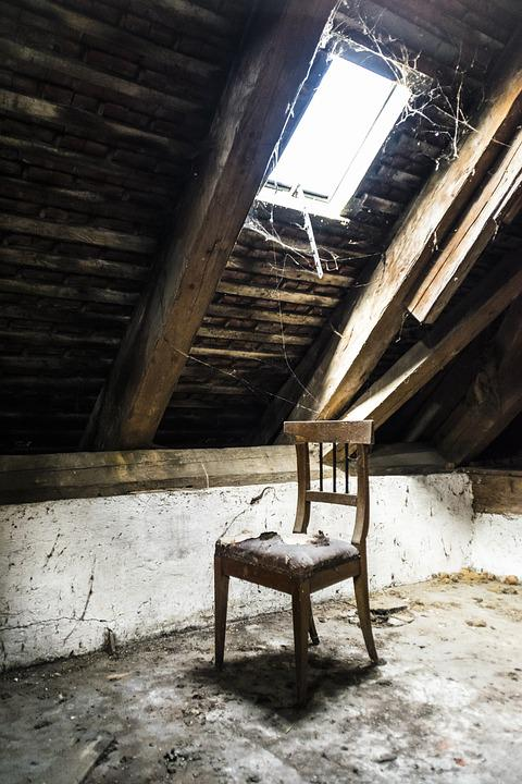 Window Chair Attic House Old Old House Building