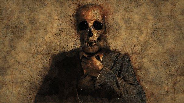 Man, Skull, Background, Texture, Death