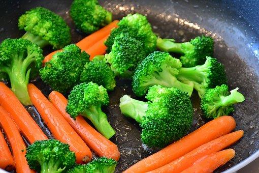 人参, 野菜, ブロッコリー, ニンジン, 食品, ビタミン, 食べる, 新鮮