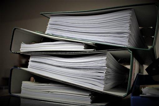 Bureaucracy Aktenordner Paperwork Office W