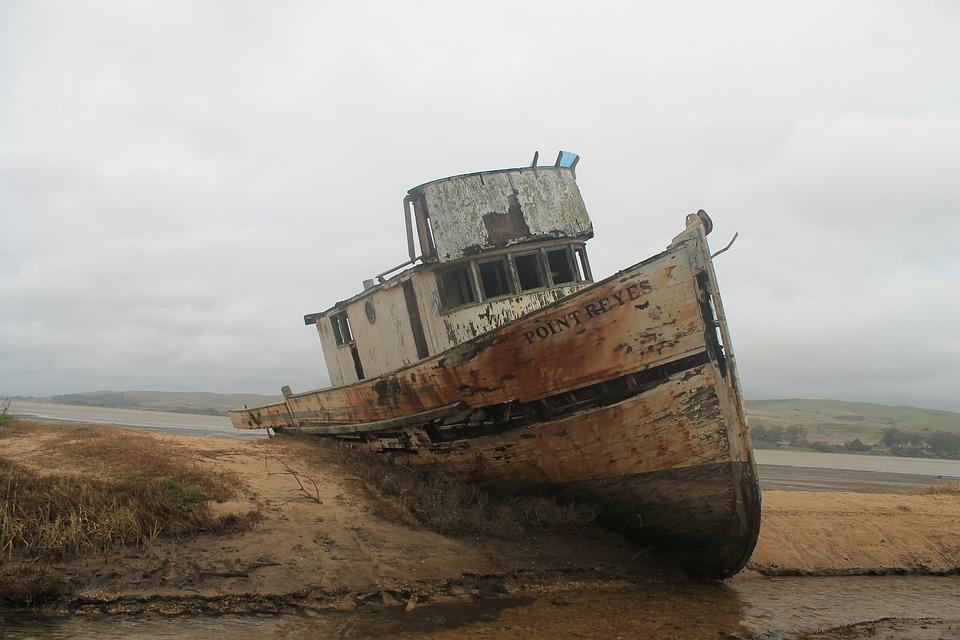 Barco, Ondulação, Oceano, Água, Mar, Praia, 2010, Vento