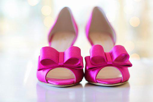 Pink Shoes, Wedding Shoes, Bows, Wedding
