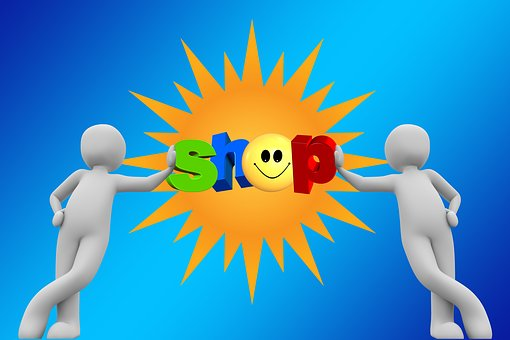 Shop, Business, Sun, Smile, Rays