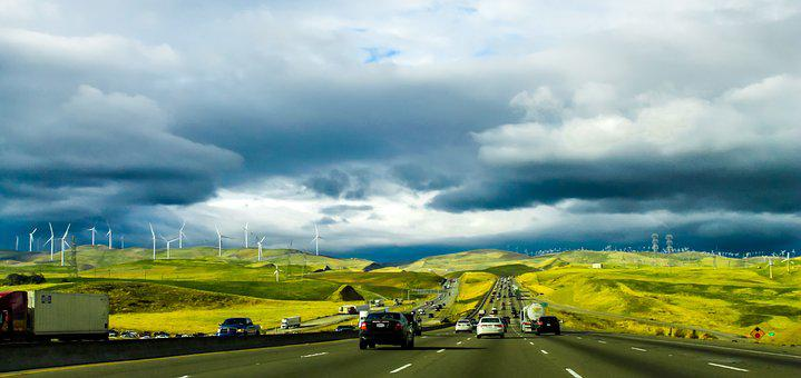 Road, California, Travel, Usa, Highway