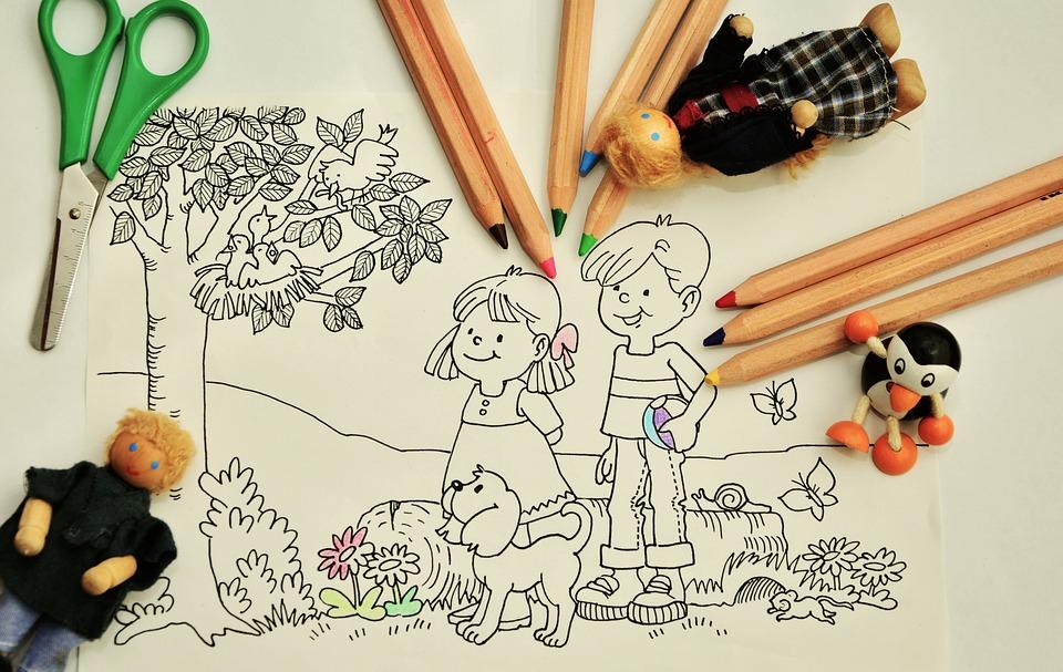 paint tinker kindergarten pens - Children Drawing Images