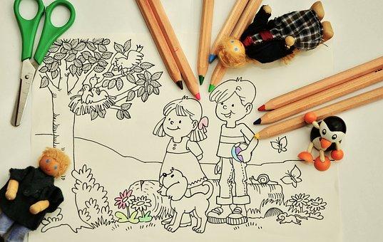 Paint Tinker Kindergarten Pens Coloring Pa