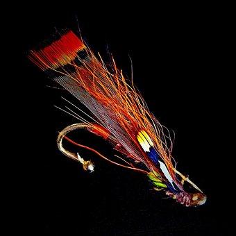 Salmon Fly, Fantasy, Brooch, Jewelry Fly
